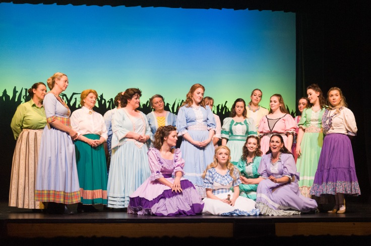 Female cast of Oklahoma! Photo by Michelle Thomas at Christopher Thomas Photography