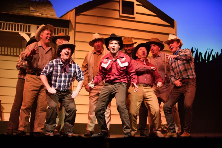 Male cast of Oklahoma! Photo by Michelle Thomas at Christopher Thomas Photography
