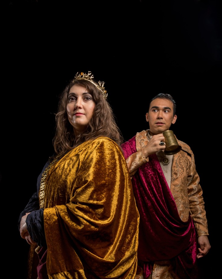 Liliana Macarone as Henry IV with Silvan Rus as Prince Hal (1)