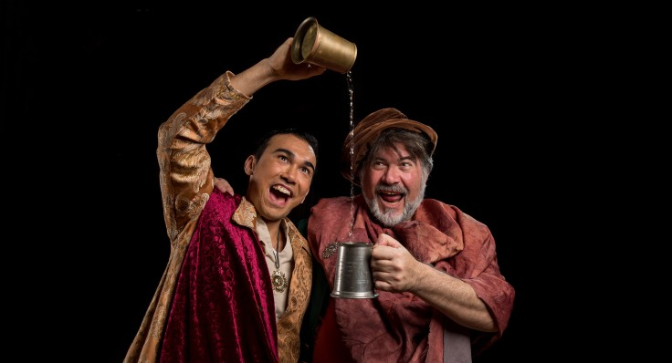 Silvan Rus as Prince Hal with Rob Penslfini as Falstaff