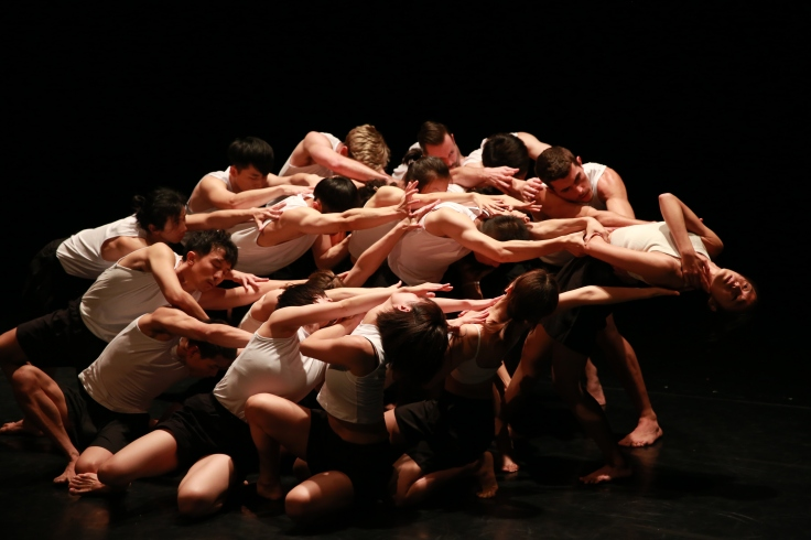 A horizontal group scene from Stephanie Lake_s work Auto Cannibal in Matrix Pic Credit YIN Peng