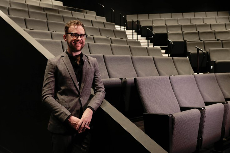 Steve Pirie in the Bille Brown Theatre where his winning play will be staged in Queensland Theatre's season 2021 (2)